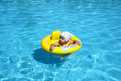 Baby in pool Royalty Free Stock Photo