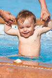 Baby in pool Stock Photography
