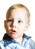 Baby portrait. Portrait of the little boy on white Royalty Free Stock Image