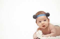The baby portrait Royalty Free Stock Photos