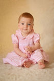 Baby Portrait. A portrait of a cute caucasian baby or toddler on smooth background Stock Images