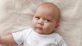 Baby portrait close up stock footage