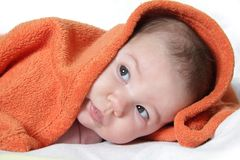 Baby portrait at home Royalty Free Stock Photography