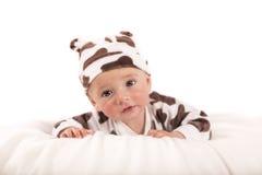 happy little boy on blanket Stock Photography