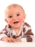 happy little boy on blanket Stock Photos
