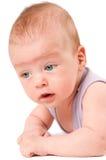 Baby portrait isolated on white background Stock Photo