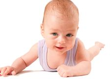 Baby portrait isolated on white background Stock Images