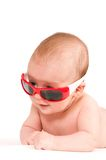 Baby portrait in sunglasses Stock Photography