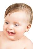 Baby portrait on white Stock Image