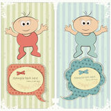 Baby postcard in vintage style Stock Images