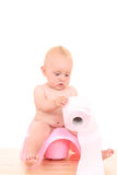 Baby on potty Royalty Free Stock Photography