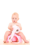 Baby on potty Stock Photos