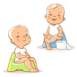 Baby on potty. Stock Images