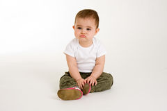 Baby Pout Royalty Free Stock Photos
