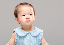 Baby pouting Royalty Free Stock Photography