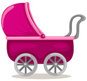 Baby pram stock illustration