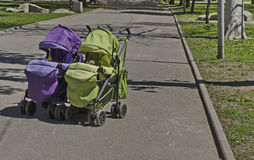 Baby pram Royalty Free Stock Photography