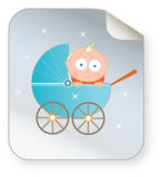 Baby in pram icon Stock Photography
