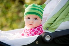 Baby in pram Stock Photos