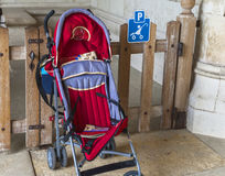 Baby pram parking Stock Photos