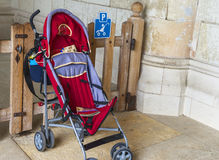 Baby pram parking Stock Image