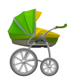 Baby pram. On a white background Royalty Free Stock Photos