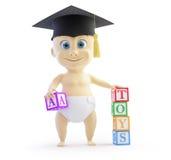 Baby preschool graduation cap. On a white background Stock Photos