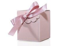 Baby Present. Present Pink box on white background Stock Photo