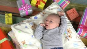 Baby and presents.