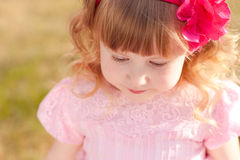 Baby princess outdoors Stock Images