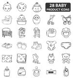 Baby Product Icons Stock Photography