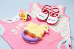 Baby Products Royalty Free Stock Photo