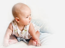 Baby profile Stock Photo