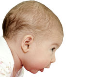 Baby profile Royalty Free Stock Photo