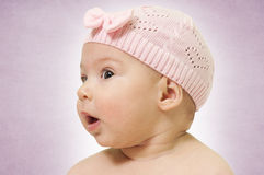 Baby profile Royalty Free Stock Photos