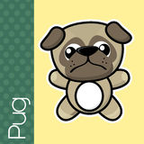 Baby pug Royalty Free Stock Photography