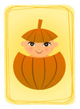 Baby in pumpkin Royalty Free Stock Photo