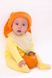 Baby with pumpkin Royalty Free Stock Image
