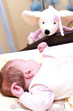 Baby with puppet Royalty Free Stock Photo