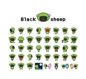 Baby puts on sheep dress Stock Image