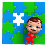 Baby with Puzzle Royalty Free Stock Photo