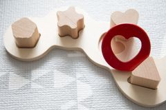 Baby puzzle toys stock images