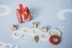 Baby puzzle toys royalty free stock photo