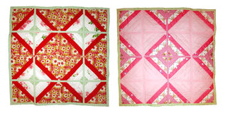 Baby quilt. Handmade patchwork. Royalty Free Stock Photos