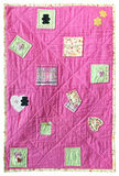 Baby quilt. Rectangular baby quilt isolated on a white background Royalty Free Stock Images