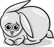 Baby rabbit bunny cartoon illustration Stock Photos