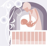 Baby �radle stock illustration