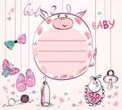 Baby-Rahmen stock abbildung
