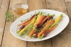 Baby Rainbow Carrots Stock Photography