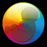 Baby Rainbow Circle Symbol Black Royalty Free Stock Photography